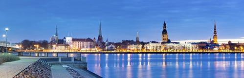 Panoramic  view on medieval city of Riga, Latvia Stock Image