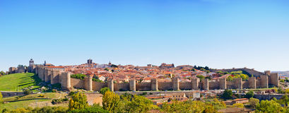 Panoramic view of the medieval fortress Stock Image