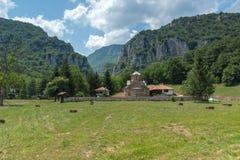 Panoramic view of medieval Poganovo Monastery of St. John the Theologian. Serbia Royalty Free Stock Image