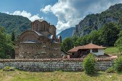 Panoramic view of medieval Poganovo Monastery of St. John the Theologian. Serbia Royalty Free Stock Photos