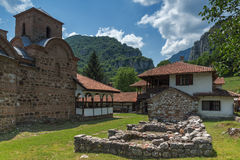 Panoramic view of medieval Poganovo Monastery of St. John the Theologian. Serbia Stock Image