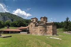 Panoramic view of medieval Poganovo Monastery of St. John the Theologian. Serbia Royalty Free Stock Photo