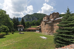 Panoramic view of medieval Poganovo Monastery of St. John the Theologian. Serbia Stock Photography