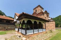 Panoramic view of medieval Poganovo Monastery of St. John the Theologian. Serbia Stock Photo