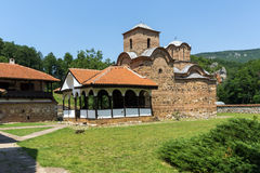 Panoramic view of medieval Poganovo Monastery of St. John the Theologian Royalty Free Stock Photos