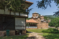 Panoramic view of medieval Poganovo Monastery of St. John the Theologian Stock Photography