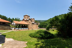 Panoramic view of medieval Poganovo Monastery of St. John the Theologian Stock Photos