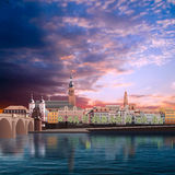 Panoramic view of medieval town in Germany Stock Photos