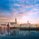 Panoramic view of medieval town in Germany Stock Image