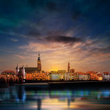 Panoramic view of medieval town in Germany Stock Images