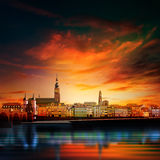 Panoramic view of medieval town in Germany Stock Photo