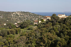 Panoramic view of Mediteranean Sea Royalty Free Stock Images
