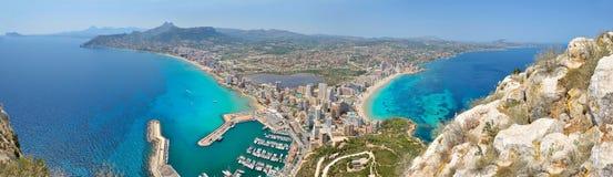 Panoramic view of mediterranean city Stock Photos