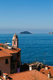 Panoramic view of mediterranean sea Royalty Free Stock Images