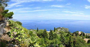 Panoramic view of the mediterranean sea Stock Image