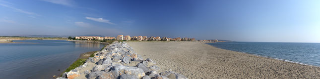 Panoramic  view of mediterranean sea coast Royalty Free Stock Image