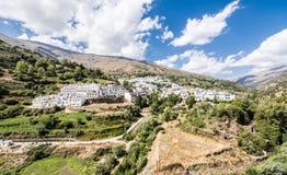 Panoramic view on mediterranean village Trevelez / Spain royalty free stock images
