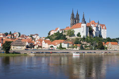 Panoramic view of Meissen in Germany Stock Image