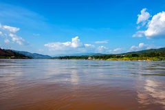 Panoramic view of Mekong river Royalty Free Stock Photography