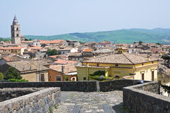 Panoramic view of Melfi. Basilicata. Italy. Stock Photography
