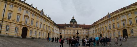 Melk, Lower Austria/Austria; 06/10/2018: a panoramic view of Melk Abbey royalty free stock image