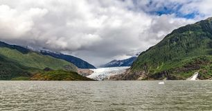 View of Mendenhall Glacier in Alaska stock images