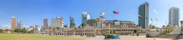 Panoramic view of Merdeka Square. Royalty Free Stock Photos
