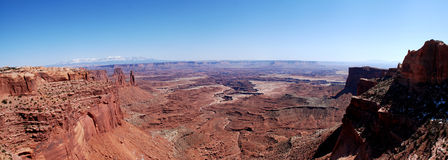 Panoramic view from Mesa Arch Royalty Free Stock Photo