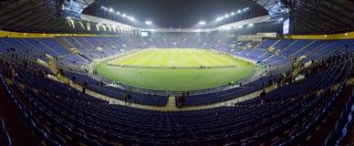 Panoramic view of Metalist Stadium in Kharkiv. Kharkiv, Ukraine - November 15, 2016: Panoramic view of Metalist stadium before Friendly match between Ukraine and Stock Photography