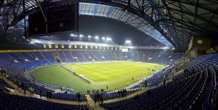 Panoramic view of Metalist Stadium in Kharkiv. Kharkiv, Ukraine - November 15, 2016: Panoramic view of Metalist stadium before Friendly match between Ukraine and Royalty Free Stock Photos