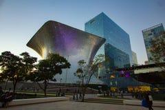 Mexico City Panorama Street CDMX. Panoramic view of Mexico City center DF CDMX. Street view of the town royalty free stock image
