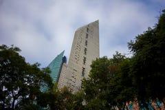 Mexico City Panorama Street CDMX. Panoramic view of Mexico City center DF CDMX. Street view of the town stock photo