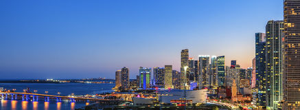 Panoramic view of Miami stock photography