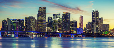 Panoramic view of Miami, special photographic processing Stock Photo