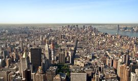 Panoramic view Midtown and downtown of manhattan Stock Images