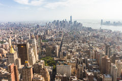 Panoramic view of Midtown and Lower Manhattan as seen from the E Stock Image