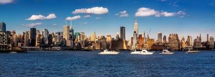 Panoramic view of the midtown Manhattan skyline Stock Photos