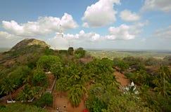 Panoramic view of Mihintale's main dagoba Stock Images