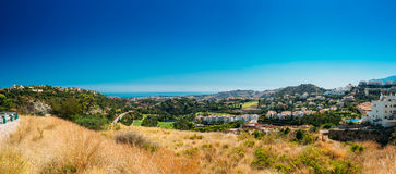 Panoramic View Of Mijas city In Malaga, Andalusia Stock Images