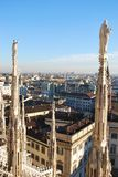Panoramic view of Milan Stock Image
