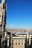 Panoramic view of Milan Stock Photos