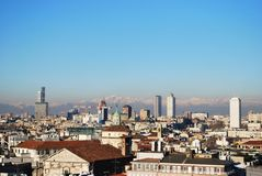Panoramic view of Milan Royalty Free Stock Photos
