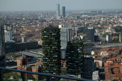 Panoramic view of Milan Stock Photography