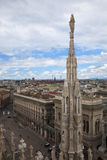 Panoramic view of Milan, Italy Stock Image