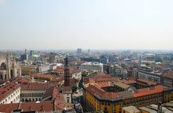 Panoramic view of Milan, Italy stock photos