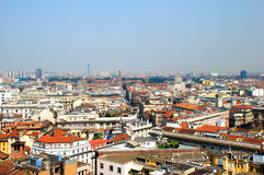 Panoramic view of Milan, Italy Royalty Free Stock Photography