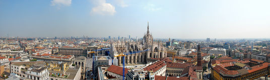 Panoramic view of Milan, Italy Stock Photo