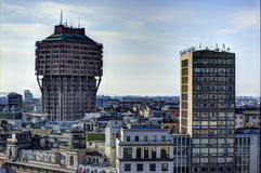 Panoramic view of Milan, Italy royalty free stock image