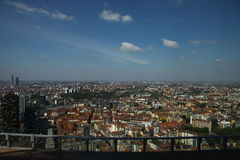 Panoramic view of Milan Royalty Free Stock Photography