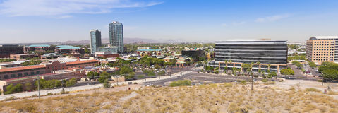A Panoramic View of Mill Avenue, Tempe Stock Image